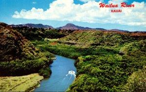 Hawaii Kauai Aerial View Wailua River