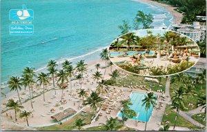 Holiday Inn On The Beach Isle Verde San Juan Puerto Rico Unused Postcard F15