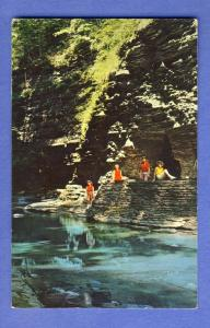 Watkins Glen,New York/NY Postcard,Natural Tunnel/Finger Lake