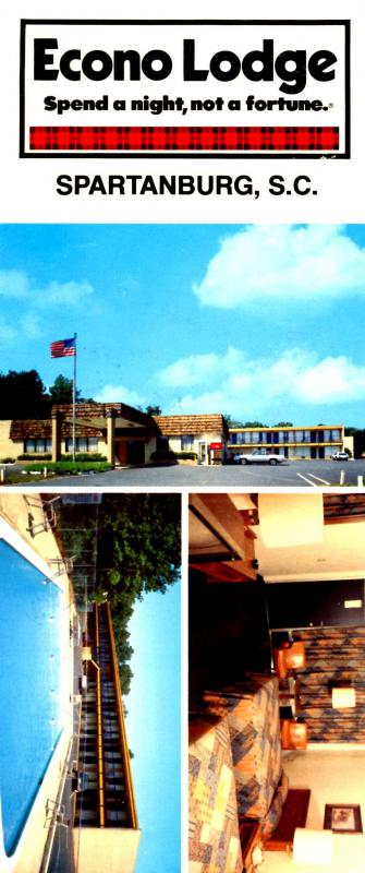 SC - Spartanburg. Econo Lodge (3.5 X 8.25).
