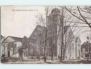 Divided-Back CHURCH SCENE Perry New York NY A9882