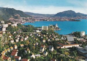 Aerial View of the Town, Lake, BERGEN, Norway, 50-70´s