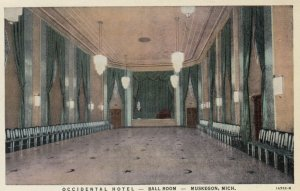 MUSKEGON, Michigan, 1930-40s; Occidental Hotel, Ball Room