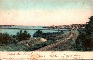 Maine Belfast Panoramic View 1905