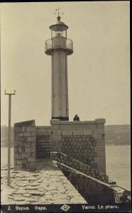 bulgaria, VARNA, Le Phare, Lighthouse (1929) RPPC