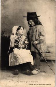 CPA Voué-tu qué yo t'embrassé - Enfants - Folklore - Types (482556)