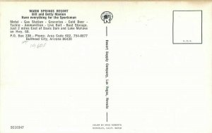 Bullhead City Arizona Warm Springs Resort Desert Supply 1960s Postcard 7551