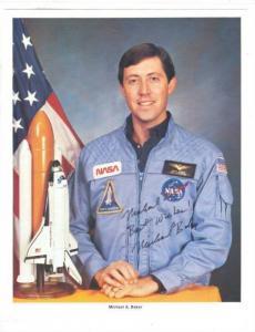 Astronaut Michael Allen Baker autographed 8x10 photo