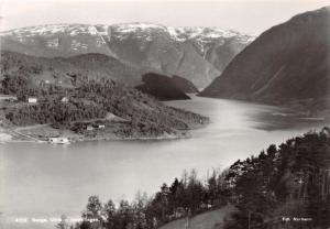 ULVIK HORDALAND NORWAY NORGE~INNSEILINGEN ~NORMANN PHOTO POSTCARD 1940s