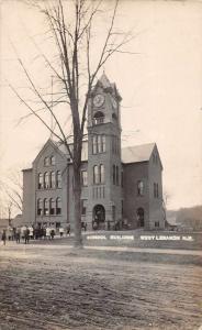 West Lebanon New Hampshire School Building Real Photo Vintage Postcard JA454333
