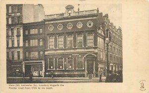 Postcard England London early XX century Hogarth the Painter Leicester street