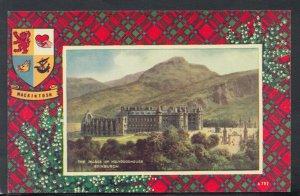 Scotland Postcard - MacIntosh Tartan - The Palace of Holyroodhouse   RS14457