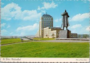 St. John's NFLD Newfoundland NL Confederation Building Vintage Postcard D43
