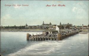 Now Oak Bluffs Martha's Vineyard From The Steamer Boat c1910 Postcard