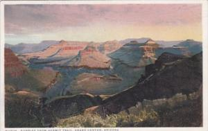 Arizona Grand Canyon Sunrise From Hermit Trail Fred Harvey Detroit Publishing