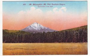 P401 JL old  postcard mt mclaugblin [mt pitt] southern oregon