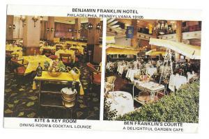 Ben Franklin Hotel Philadelphia PA Kite Key Room Postcard