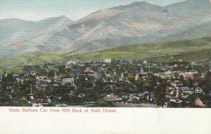SANTA BARBARA , California , 1900-10s ; View from Hill Back of Bath House