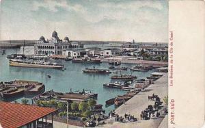 Boats, Les Bureaux De La Cie Du Canal, Port-Said, Egypt, Africa, 1900-1910s