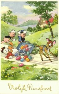 Disney, Two Little Pigs, Bambi, Huey Duck (1950s) Belgian Edition