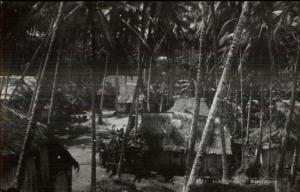 Malaysia - Malay Rampongs Singapore Thatch Homes Real Photo Postcard