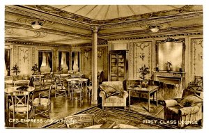 Canadian Pacific Steamship Co - Empress of Scotland, First Class Lounge