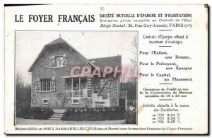 Postcard Old French Insurance Foyer House Foyer French Dammarie les Lys