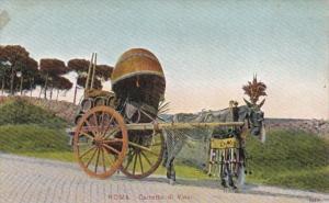 Italy Roma Carretto di Vino Horse Drawn Wine Wagon