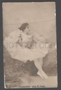 103237 GLISZCZYNSKA Star BALLET DANCER Vintage PHOTO AUTOGRAPH