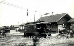 Real Photo, Lewiston, August & Waterville St Gardiner ME Unused