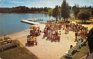 Rothbury Michigan turtle races on beach Jack & Jill Ranch vintage pc ZA440497