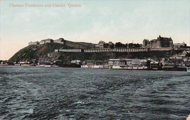 Canada Quebec Chateau Frontenac and Citadel