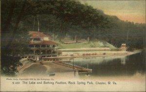 Chester WV Lake Bathing Pavilion 1905 Rotograph G4551 Postcard