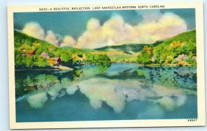 *Reflection Lake Santeetlah Western North Carolina NC Vintage Postcard C11