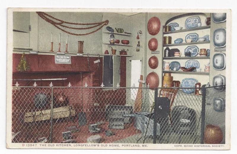 Portland ME Longfellow House Old Kitchen Photostint