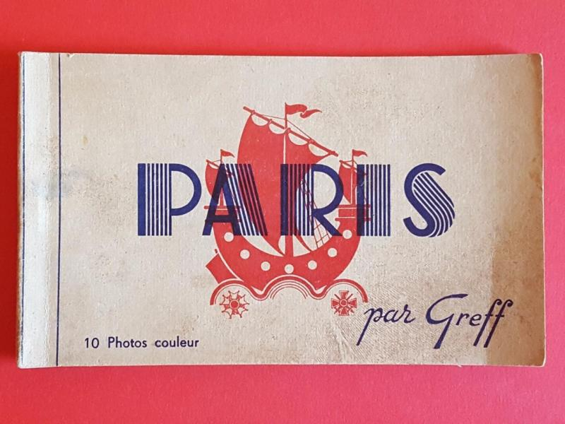 Postcard BOOK c1930's Paris Complete with 10 Colour Cards by Par Greff