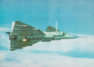 Single Seat Stol Saab 37 Viggen Plane Aircraft Rare Postcard