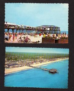 ME Lot 2 Amusement Park Pier Bike OLD ORCHARD BEACH Maine Postcard Carte Postale