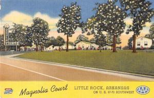 magnolia court little rock arkansas L4463 vintage postcard