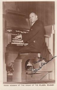 Frank Newman at the Plaza Organ Rugby Warks Cinema Theatre Hand Signed WW2 Photo