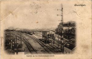 CPA GRONINGEN Gezicht op het Stationsemplacement NETHERLANDS (604072)