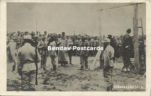 serbia, Austria-Hungarian Soldiers Executing Serbs by Hanging 1914 WWI RPPC (2)