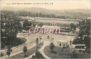 Old Postcard Bass Pau Pyrenees The Midi Station