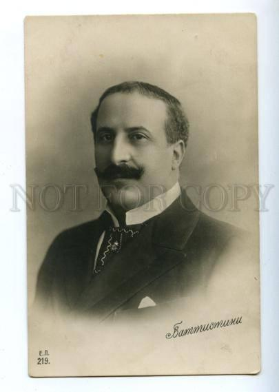 150401 Mattia BATTISTINI Italian OPERA Star SINGER old PHOTO