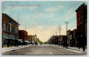 Antigo Wisconsin~Fifth Avenue East~Goldberg's Department Store~Steam Roller~1913