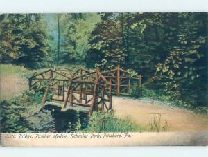 Pre-1907 BRIDGE SCENE Pittsburgh Pennsylvania PA H9200