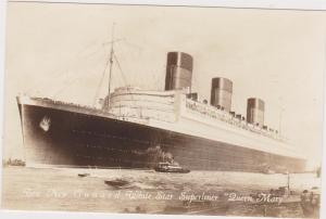 RP, New Cunard White Star Superliner QUEEN MARY , 1936