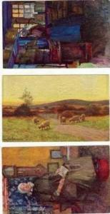 3 TUCK postcards, Oilettes, 00-10s