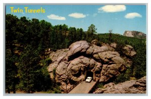 Aerial View Of Twin Tunnels Iron Mountain Road SD Vintage Standard View Postcard