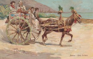 PALERMO , Italy , 00-10s ; Horse ; Carro Siciliano